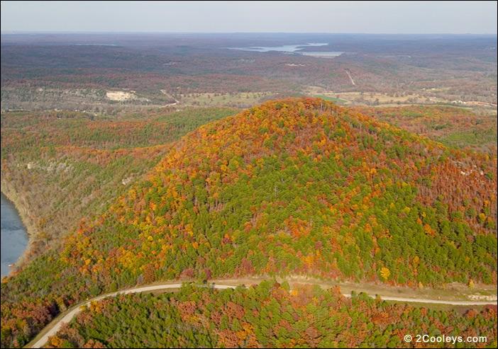 12 Ozarks fall foliage photos - 2Cooleys aerial foliage pics