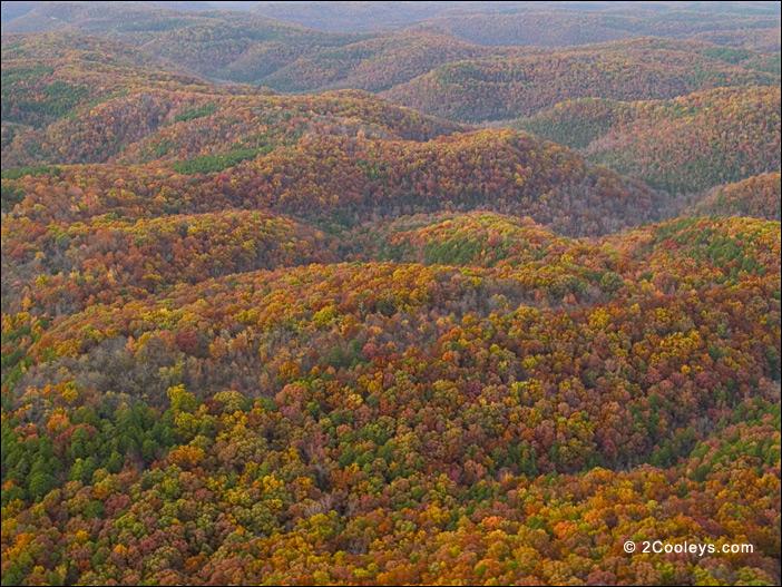 20 Ozarks fall foliage photos - 2Cooleys aerial foliage pics