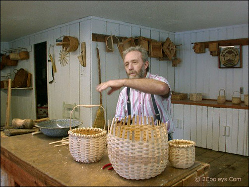 Ozark Folk Center basket weaver
