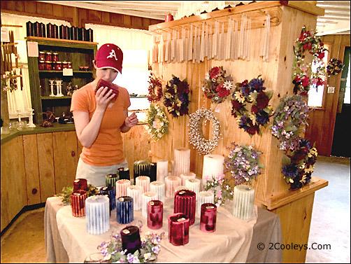 Ozark Folk Center candle shop