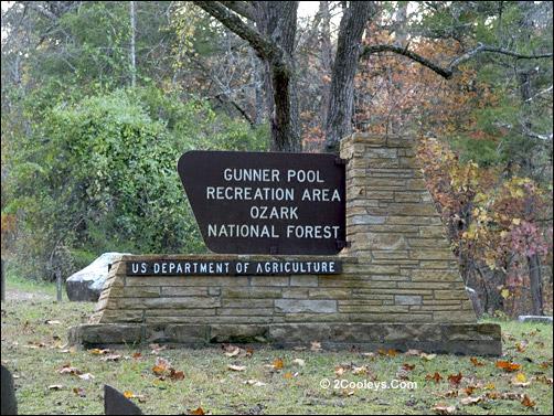 gunner pool recreation area sign