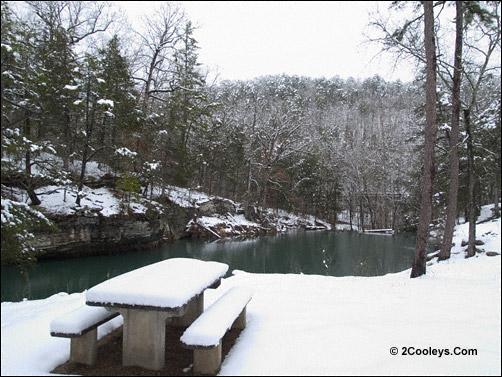 gunner pool recreation area in winter