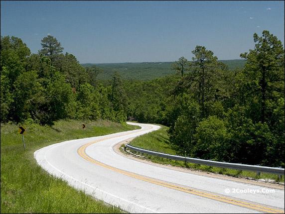 push mountain road views
