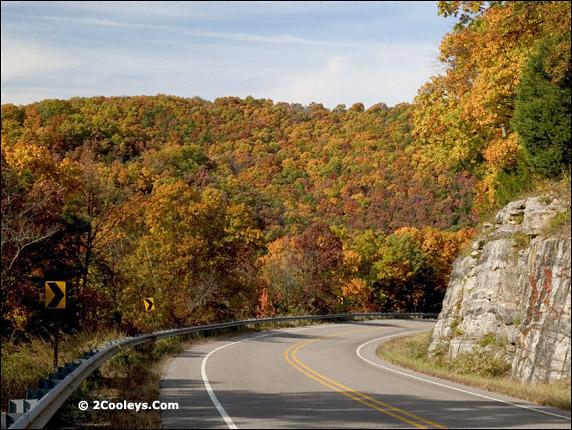 push mountain road sharp blind curve