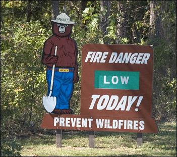 smokey bear sign