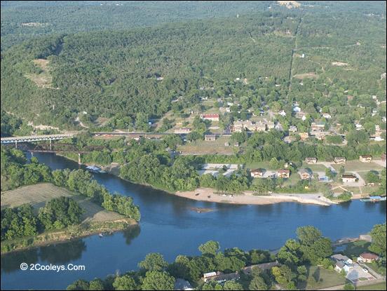 aerial view of norfork arkansas