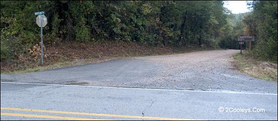 green road entrance to syllamo mountain bike trails